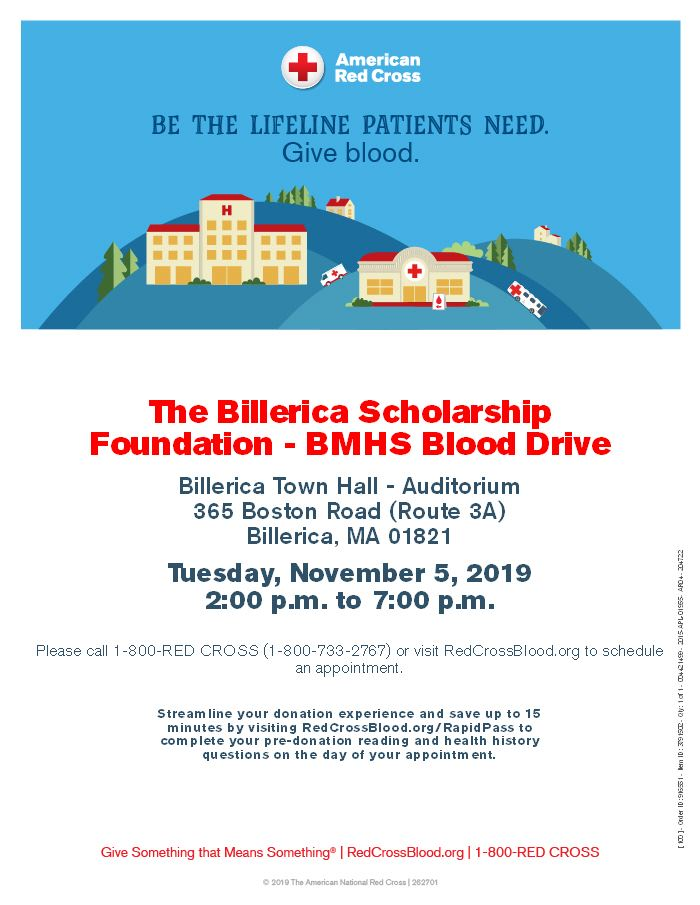 Blood Drive flyer 2019